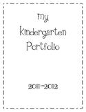 Kindergarten Portfolio Cover and Tabs