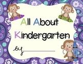 Kindergarten Portfolio- Monkey Set