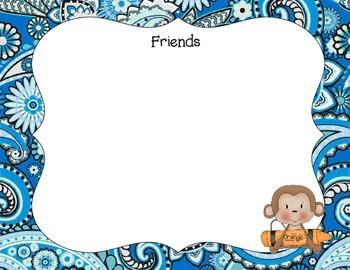 Kindergarten Portfolio- Monkeys