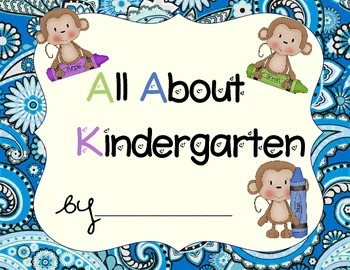 Kindergarten Portfolio- Monkeys