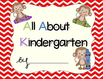 Kindergarten Portfolio-Monkeys With Red Chevron