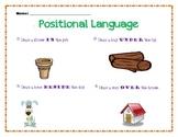 Kindergarten Positional Language Worksheet