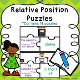 Kindergarten Positional Words Activity Game Puzzles Common Core Geometry K.G.1