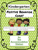 Kindergarten Positive Behavior Chart
