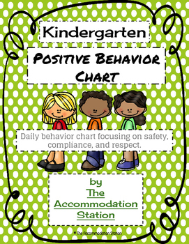Kindergarten Positive Behavior Chart