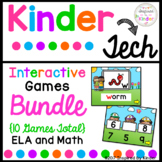 Kindergarten Interactive Games Bundle {Math and Language Arts}