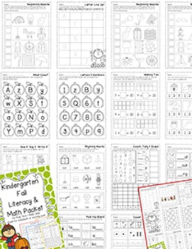 Kindergarten Practice {Click File, Print}