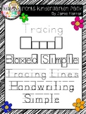 Kindergarten  Handwriting Practice Fonts Bundle