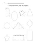 Kindergarten- Practice Identifying & Describing Plane Shapes