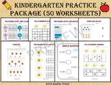 Kindergarten Practice Package - Worksheets for Kindergarten & Preschool