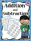 Kindergarten Addition and Subtraction