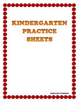 Kindergarten Practice Sheets