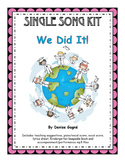 Kindergarten/Pre-K Graduation Song (mp3s), Activity Pages & Keepsake Book