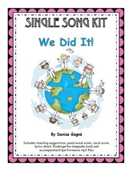Kindergarten/Pre-K Graduation Song (mp3s), Activity Pages