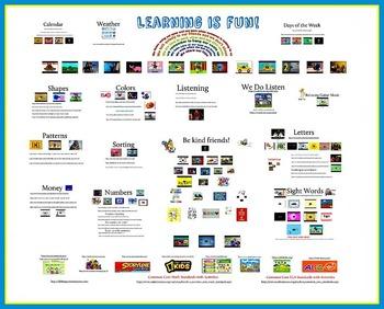 Kindergarten / Pre-Kindergarten Learning is Fun! Smartboard Activities