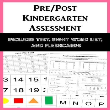 Kindergarten Pre/Post Assessment (Lower Elementary - NO PREP, Print & Go)