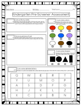 Kindergarten Pre-Screener