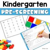 Kindergarten Pre Screener