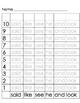 Kindergarten PrePrimer Word Roll games-20 in all