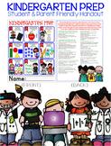 Kindergarten Prep Handout