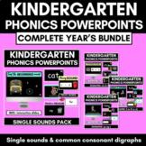 Kindergarten Phonics Powerpoint Bundle | CVC & Common Digraphs