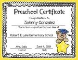 Graduation Certificates & Invitation - Editable (PreK, Kin