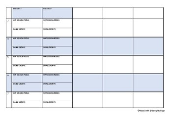 Kindergarten/ Preschool Whole Term Planning Template