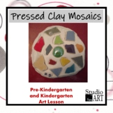 Kindergarten Pressed Clay Mosaics Lesson