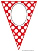 Kindergarten Primary Colors Polka Dot Banner
