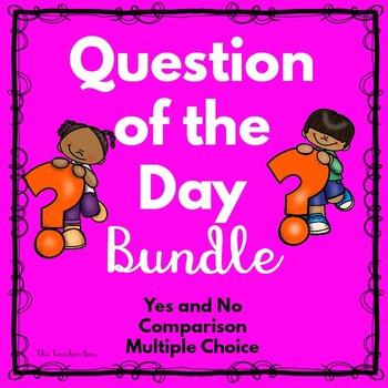 Kindergarten-Primary Grades-Pre-School -Question of the Day Bundle
