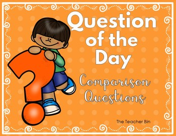 Kindergarten-Primary Grades-Pre-School -Question of the Day Bundle