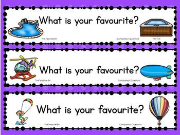 Kindergarten-Primary Grades Question of the Day-Comparison Questions-Canadian