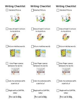 Kindergarten/Primary Journal Writing Checklist