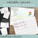Kindergarten / Primary Lined Paper : Cursive