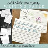 Primary Editable Writing Paper : Print Handwriting