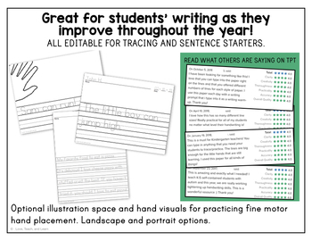 Primary Editable Writing Paper : Print Handwriting