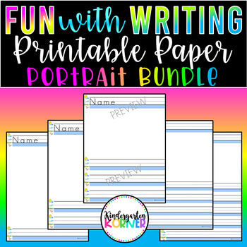 Primary Printable Writing Paper Journal Writing Centers 30 p Kindergarten 1st