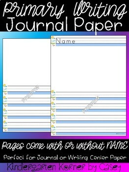 FUN with Writing Primary Printable Paper Journal Writing Centers 30 p Portrait