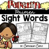 Kindergarten Primer Sight Words: Popcorn Theme