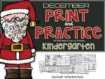 Kindergarten No Prep December