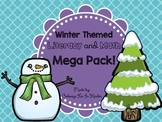 Kindergarten Print and Go Winter Math and Literacy Morning Work Pack