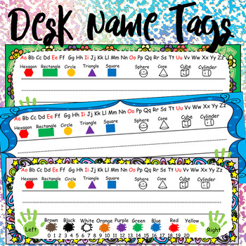 kindergarten printable desk name tags by dressed in sheets tpt