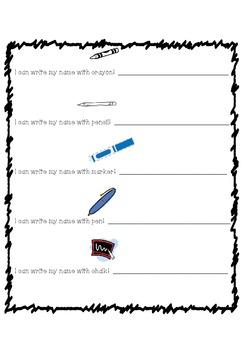 Kindergarten Printable Name Activities