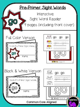 Kindergarten Printable Sight Word Reader: Go