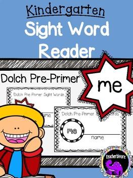 Kindergarten Printable Sight Word Reader: Me