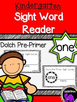 Kindergarten Printable Sight Word Reader: One