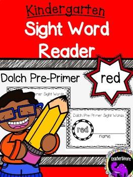 Kindergarten Printable Sight Word Reader: Red