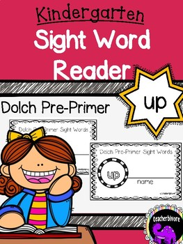photograph regarding Printable Sight Word Readers named Kindergarten Printable Sight Phrase Reader: Up
