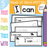 Kindergarten Printable Writing Book - I can - 5 Day Sequence
