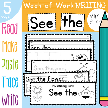 Kindergarten Printable Writing Book - See the